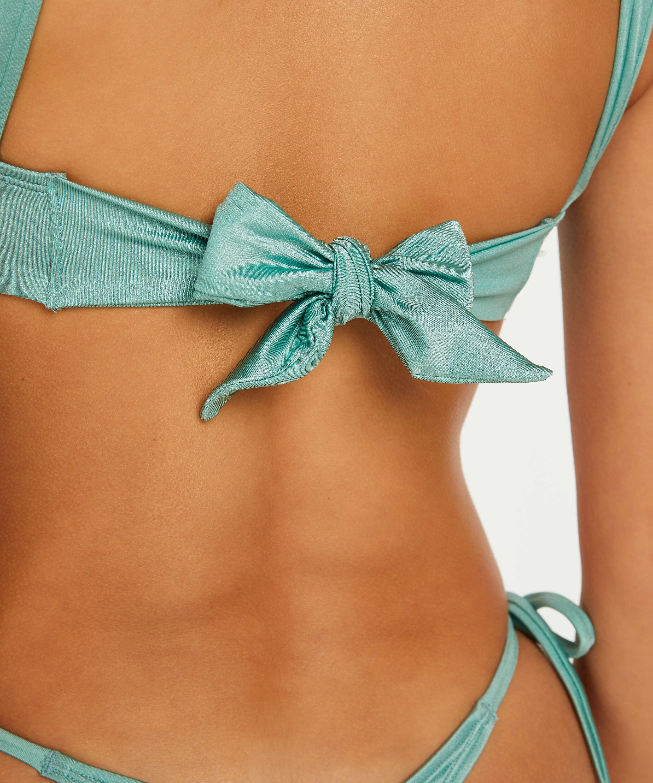 Top de bikini triangular SoCal, Verde, main