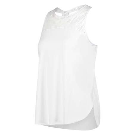 Camiseta sin mangas holgada de HKMX, Blanco