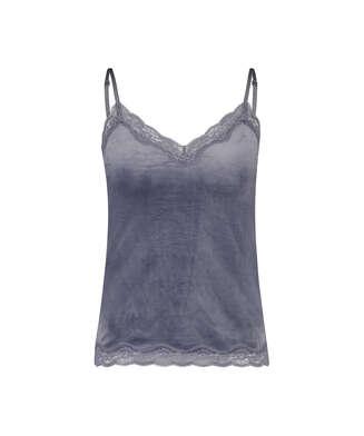 Camiseta Velours Lace, Gris