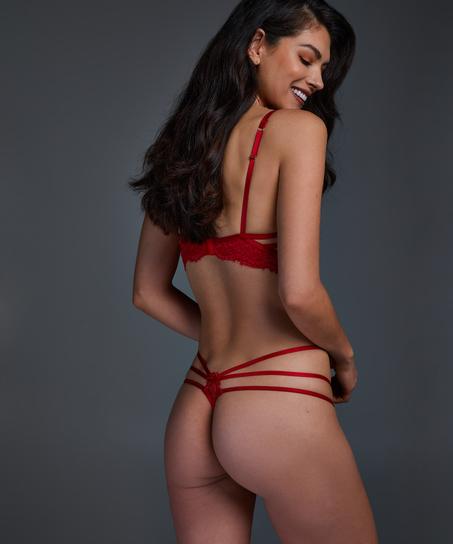 Sujetador ancho con aros y sin relleno Eve, Rojo