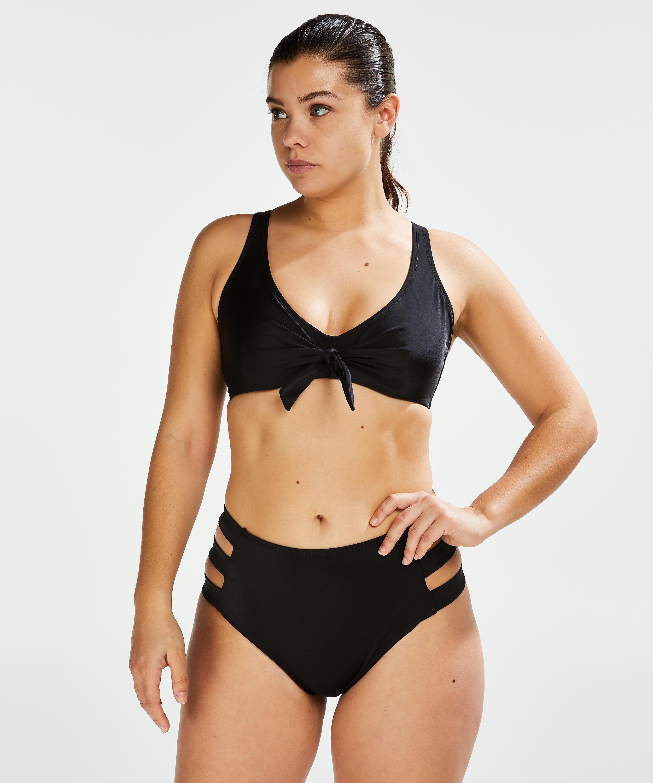 Top de bikini no preformado con aros Sunset Dreams, Negro, main