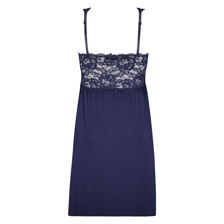 Vestido combinación Modal Lace, Azul, main