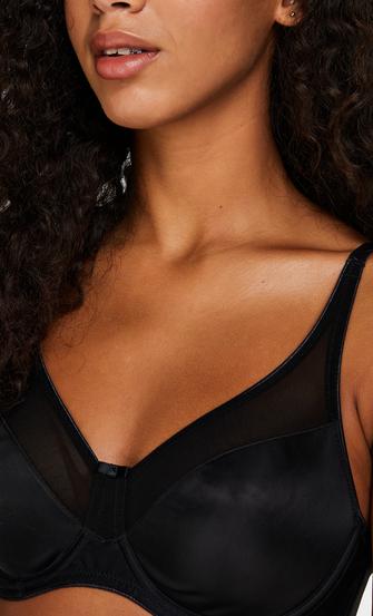 Sujetador de aros reductor no preformado Nina, Negro