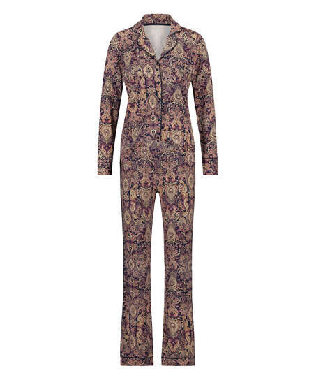 Conjunto de pijama Paisley, Azul