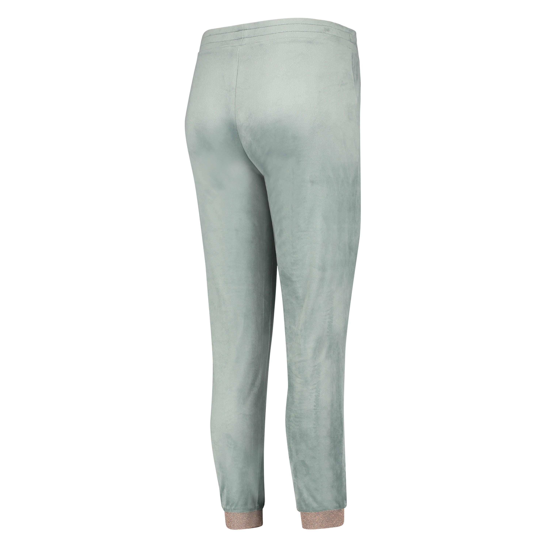 Pantalón para correr de terciopelo Lurex, Verde, main
