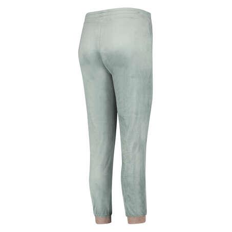 Pantalón para correr de terciopelo Lurex, Verde