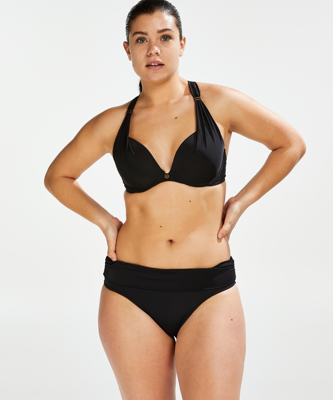 Top de bikini con aros preformado Sunset Dreams Copa E +, Negro, main