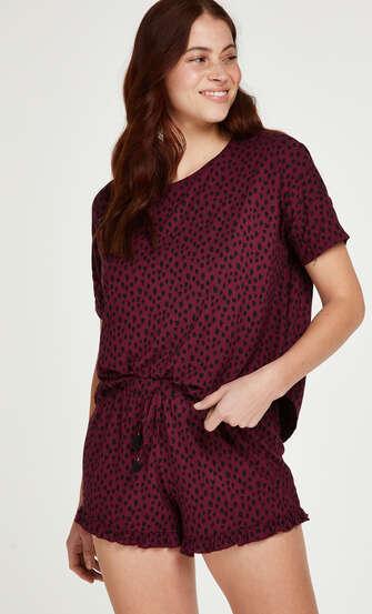 Conjunto de pijama corto, Rojo