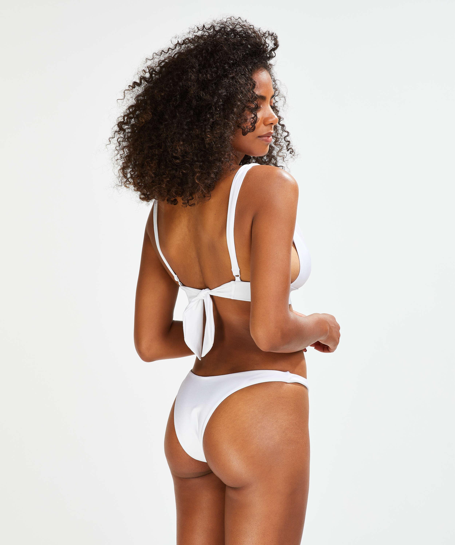 Top de bikini triangular Lola, Blanco, main