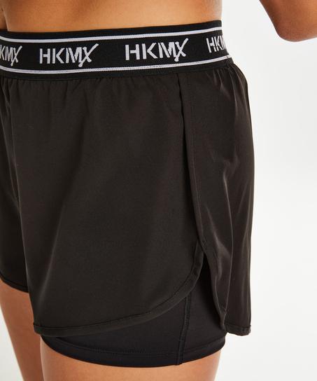 Pantalón deportivo corto HKMX, Negro
