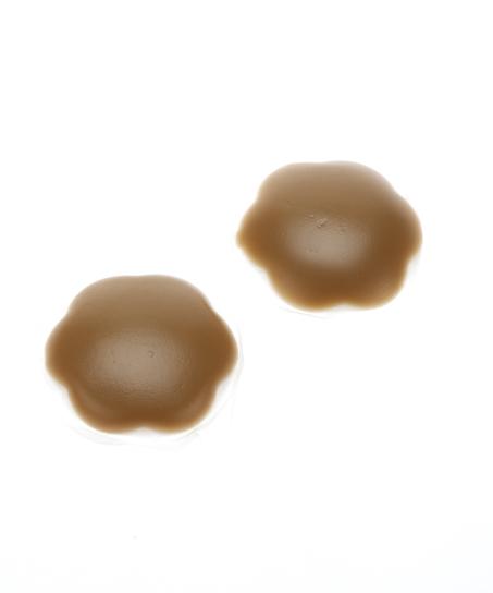 Cubre pezones de silicona, marrón