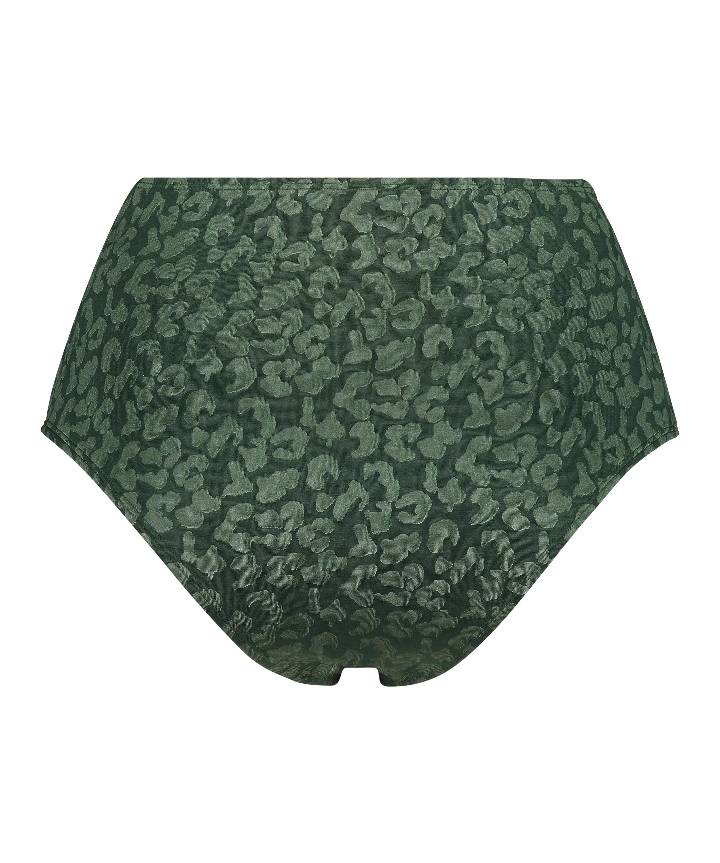 Braguita de bikini de tiro alto Tonal Leo, Verde, main