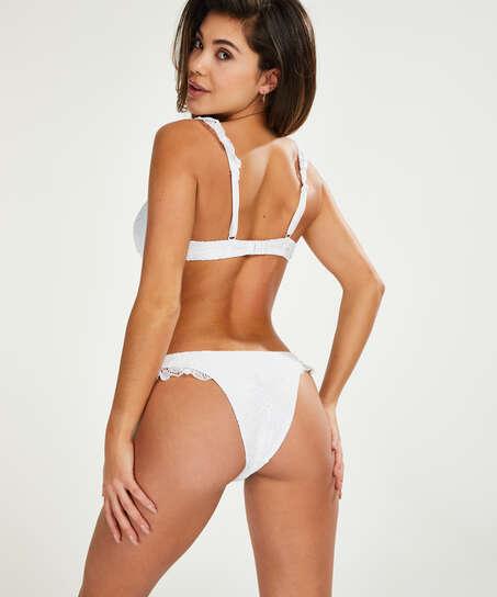 Top de bikini con aros preformado Etta Crochet, Blanco