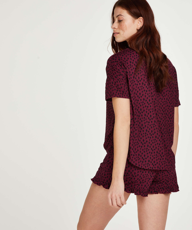Conjunto de pijama corto, Rojo, main