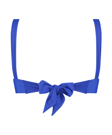 Top de bikini triangular Luxe, Azul