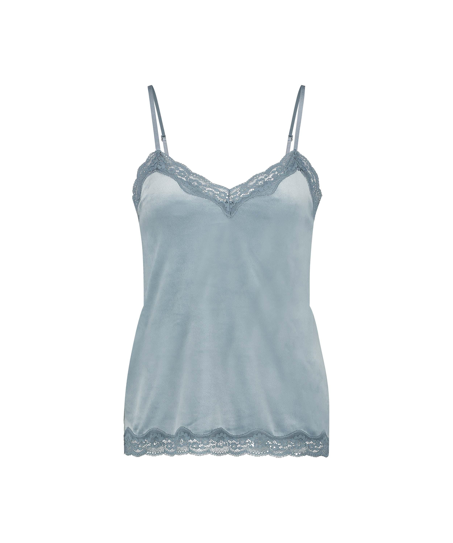 Camiseta Velours Lace, Azul, main