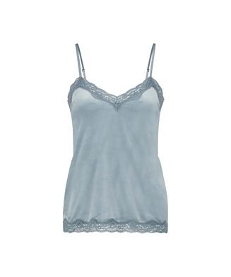 Camiseta Velours Lace, Azul