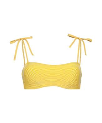 Top de bikini bandeau Carmel, Amarillo