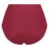 Braguita de bikini de corte alto Golden Rings, Rojo