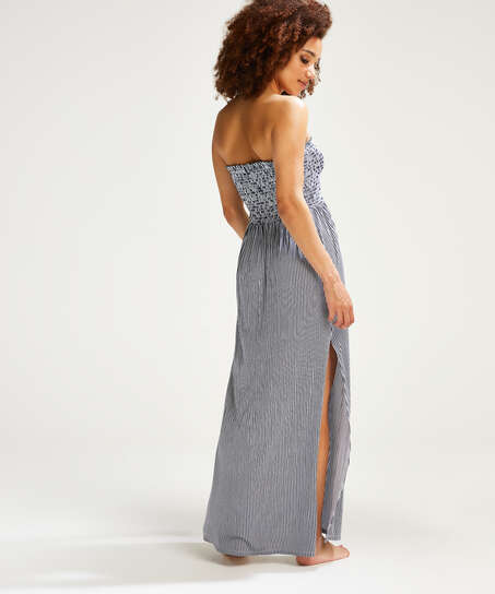 Vestido tubo de tejido de punto, Azul