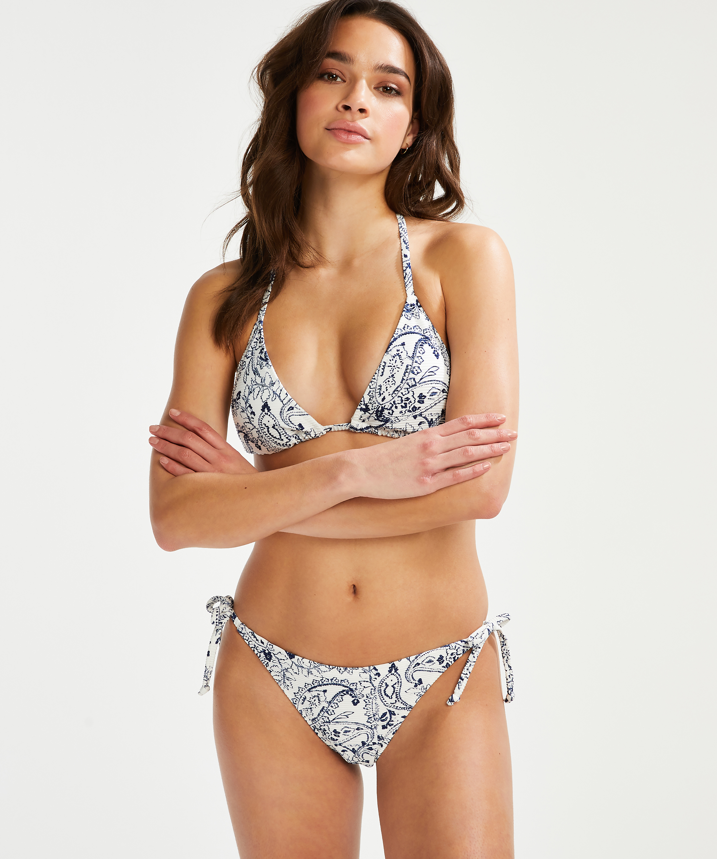 Braguita de bikini brasileña Paisley, Blanco, main