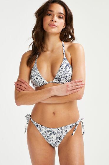 Hunkemöller Braguita de bikini brasileña Paisley Blanco
