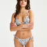 Braguita de bikini brasileña Paisley, Blanco