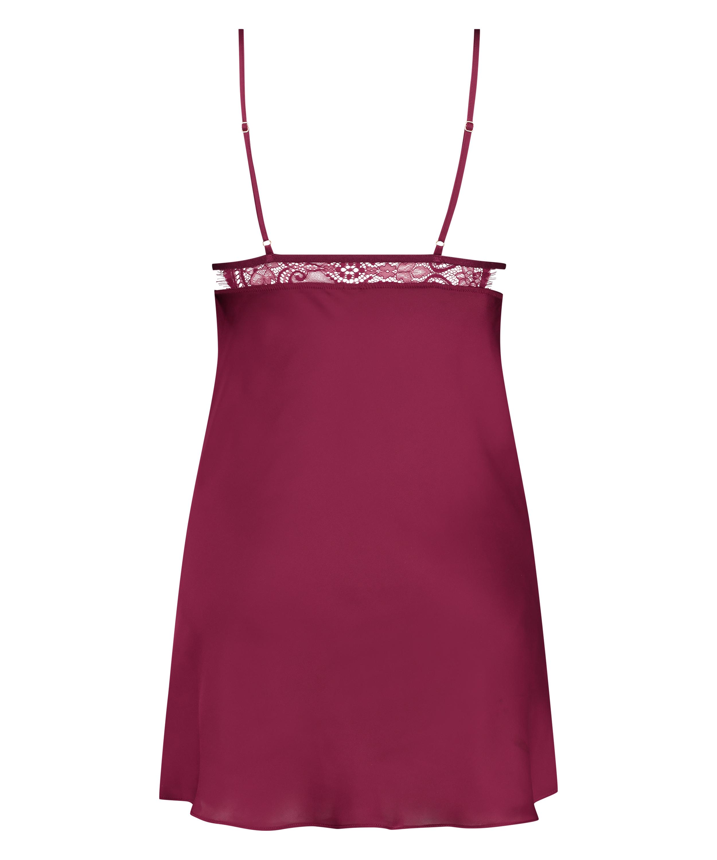 Vestido combinación satinado Holly, Rojo, main