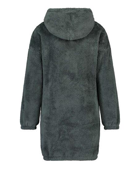 Vestido de polar acurrucado, Verde