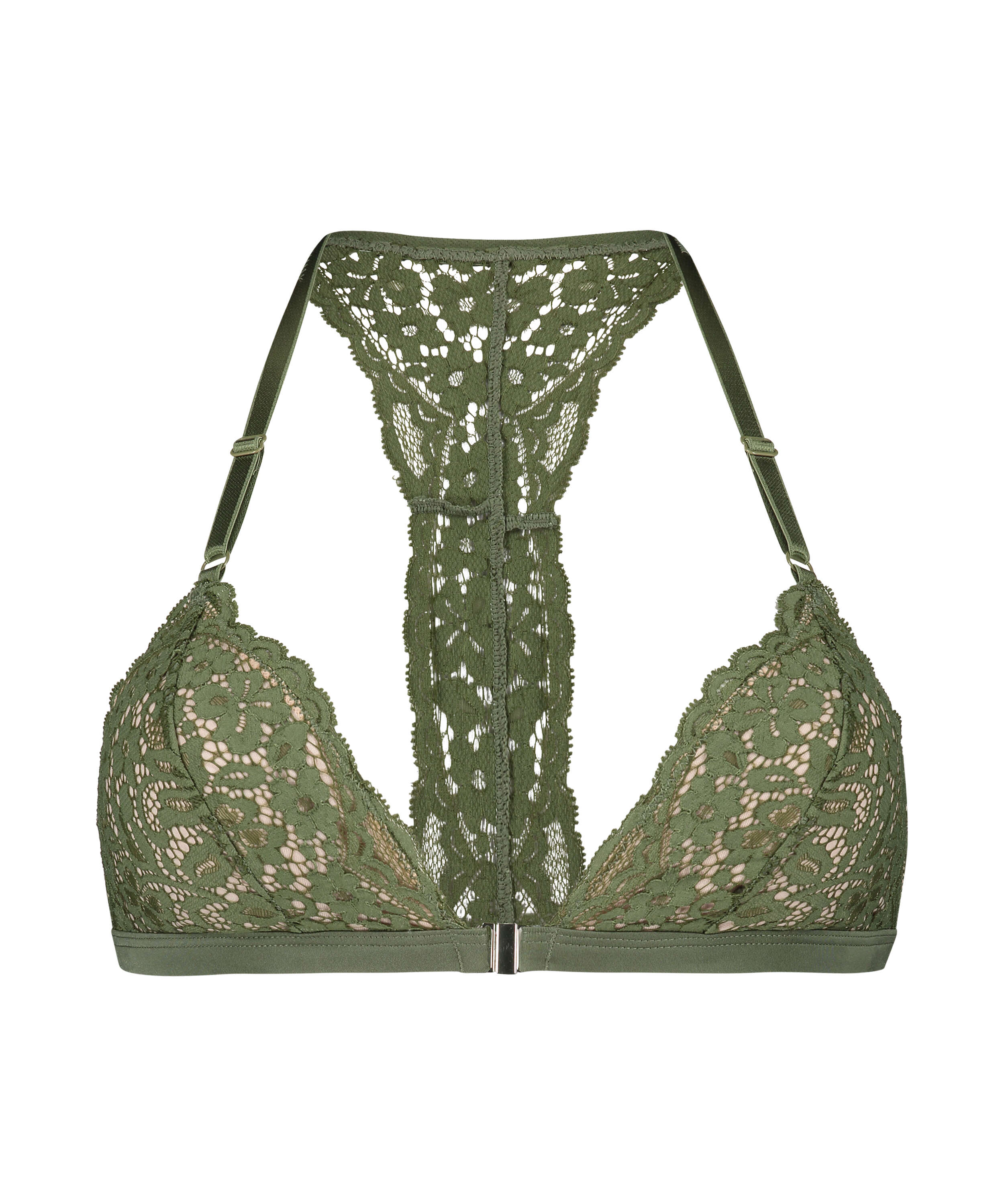 Bralette triangular preformado Rose, Verde, main
