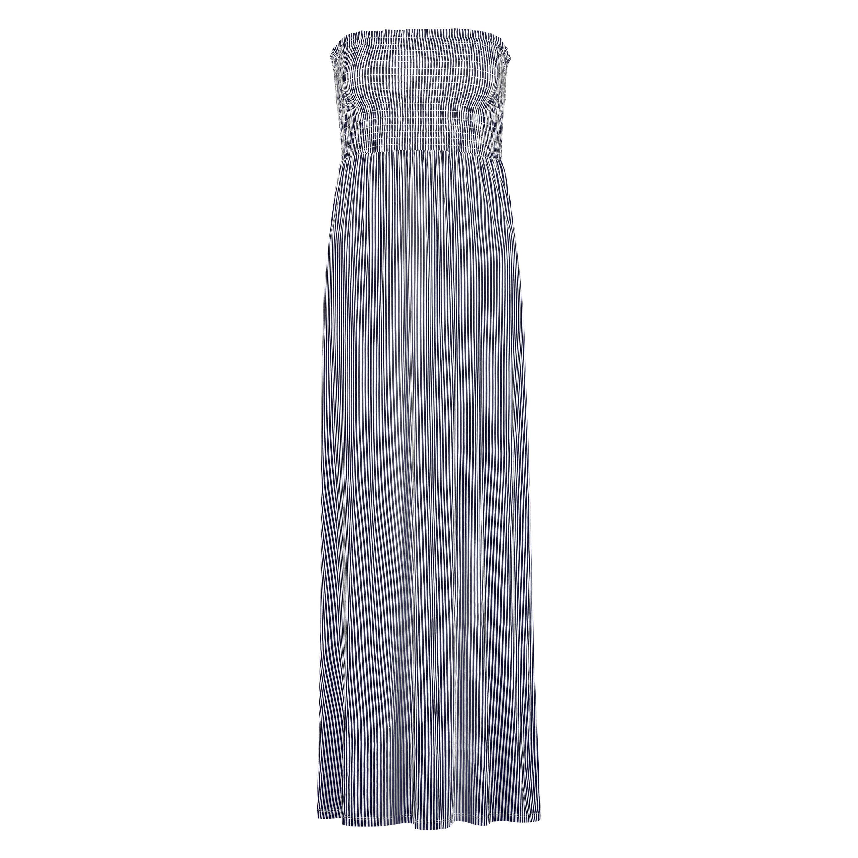 Vestido tubo de tejido de punto, Azul, main
