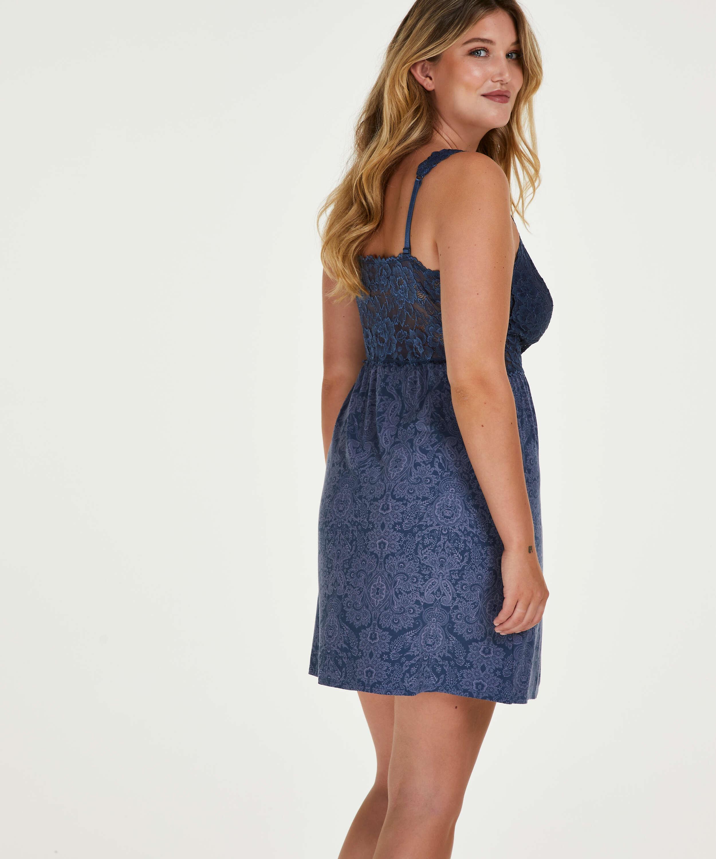 Vestido lencero Nora, Azul, main