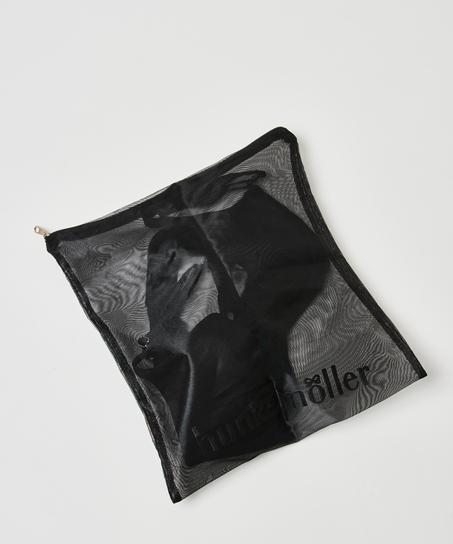Bolsa para el lavado prendas delicadas cremallera, Negro