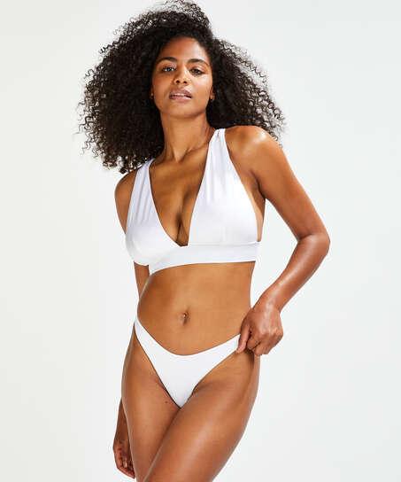 Braguita de bikini de corte alto Lola, Blanco
