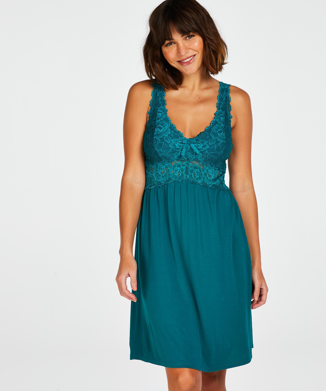 Vestido combinación Modal Lace, Verde, main