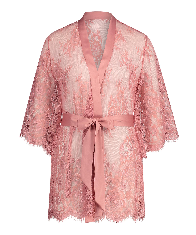 Kimono de encaje Isabelle, Rosa, main