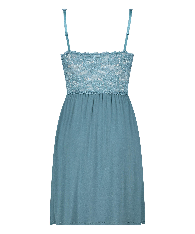 Vestido lencero Nora Lace, Azul, main