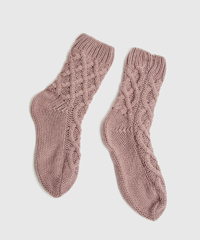 Calcetines Knit, Morado, main