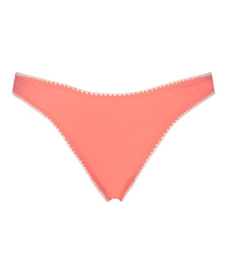 Braguita brasileña de bikini de tiro alto Maya, Rosa