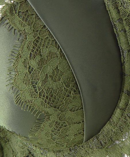 Sujetador de aros preformado Hannako, Verde