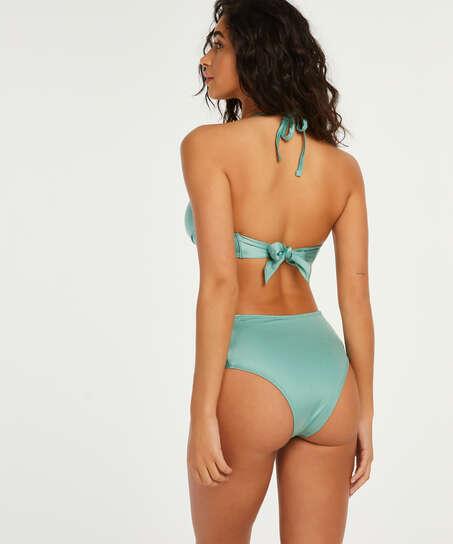 Braguita de bikini atrevida de corte alto SoCal, Verde