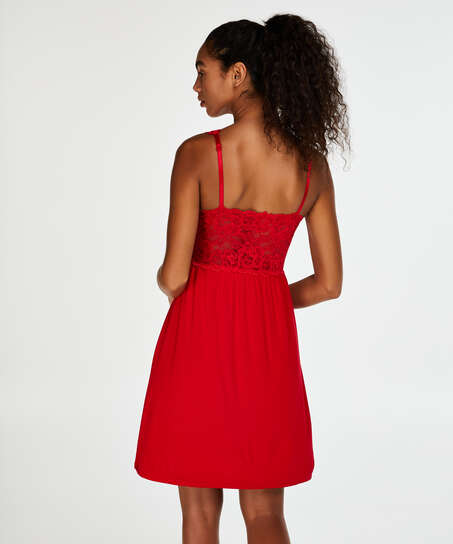 Vestido combinación Modal Lace, Rojo