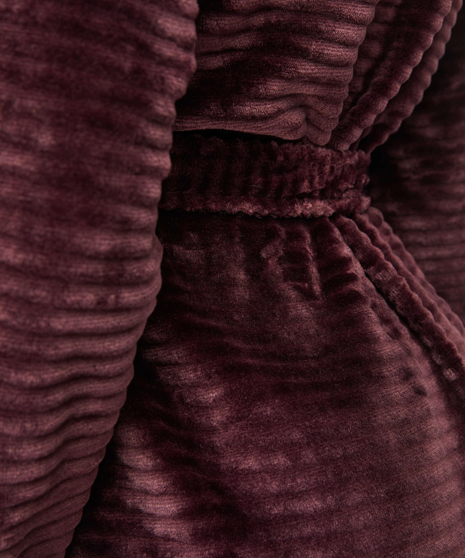 Albornoz corto de forro polar, Rojo, main