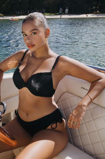Hunkemöller Top de bikini Crochet con aros preformado Negro