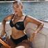 Top de bikini Crochet con aros preformado, Negro