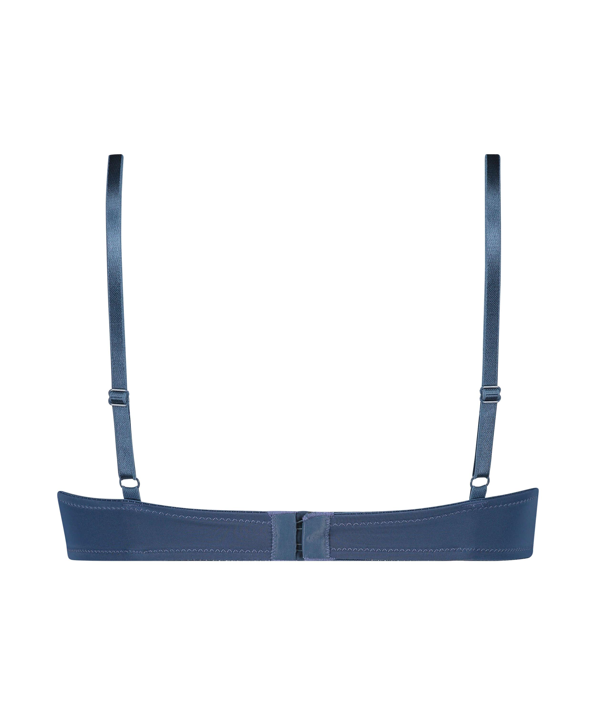 Sujetador de aros preformado Plunge, Azul, main