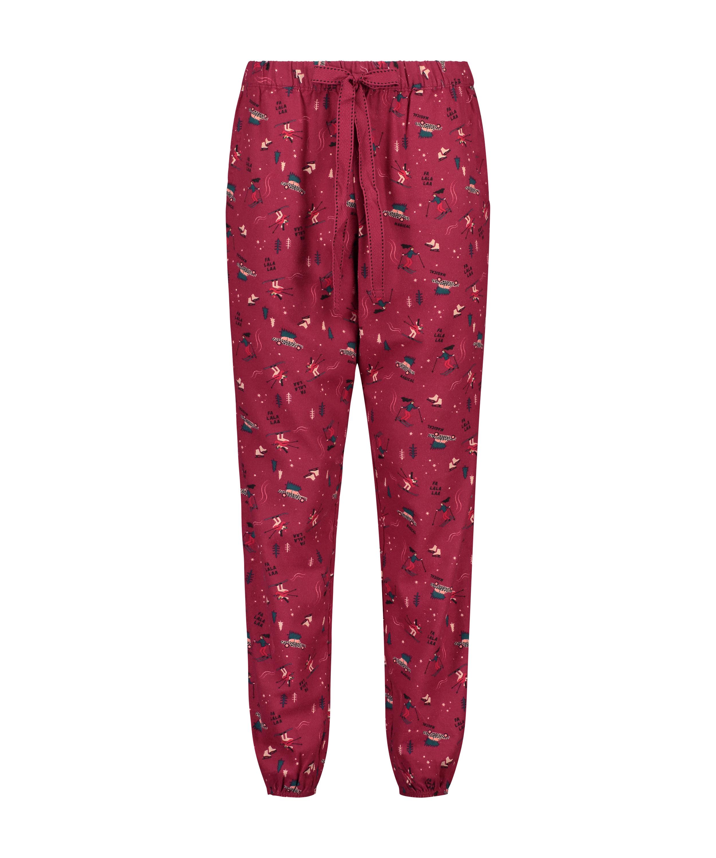 Pantalón de pijama Twill, Rojo, main