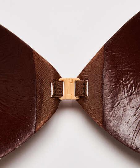 Sujetador adhesivo, marrón