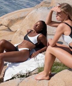 Bikini croptop 2Tone HKM x NA-KD, Blanco