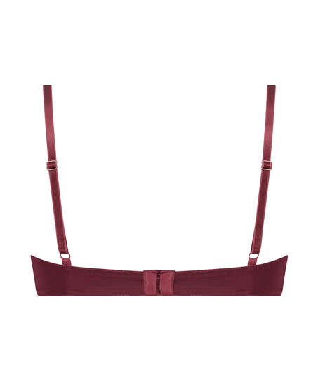 Sujetador de aros preformado Plunge, Rojo